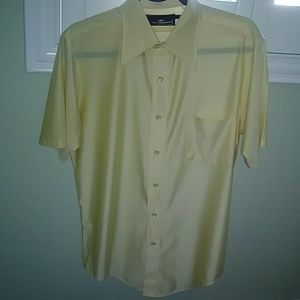 Vintage Shiny Yellow Quiana Shirt